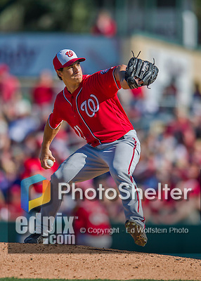 6 March 2016: Washington Nationals pitcher Michael Brady on the mound during a Spring Training pre-season game against the St. Louis Cardinals at Roger Dean Stadium in Jupiter, Florida. The Nationals defeated the Cardinals 5-2 in Grapefruit League play. Mandatory Credit: Ed Wolfstein Photo *** RAW (NEF) Image File Available ***