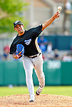 21 May 2007: Toronto Blue Jays pitcher Wilfreddy Aguirre in action against the Baltimore Orioles at Doubleday Field during Baseball's Annual Hall of Fame Game in Cooperstown, NY. The Orioles defeated the Blue Jays 13-7 in front of a sellout crowd of 9,791 at the historical ballpark...Mandatory Credit: Ed Wolfstein Photo