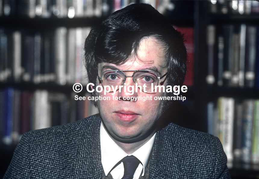 John Gray, librarian, Linenhall Library, Belfast, N Ireland, 198201006JG3<br />