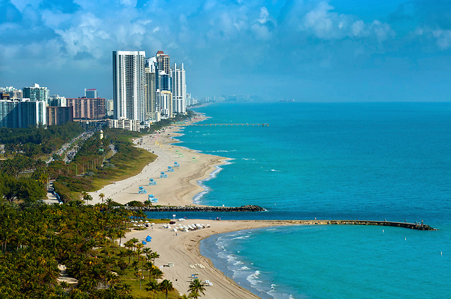 View from the St Regis Hotel, Bal Harbour, Miami Beach