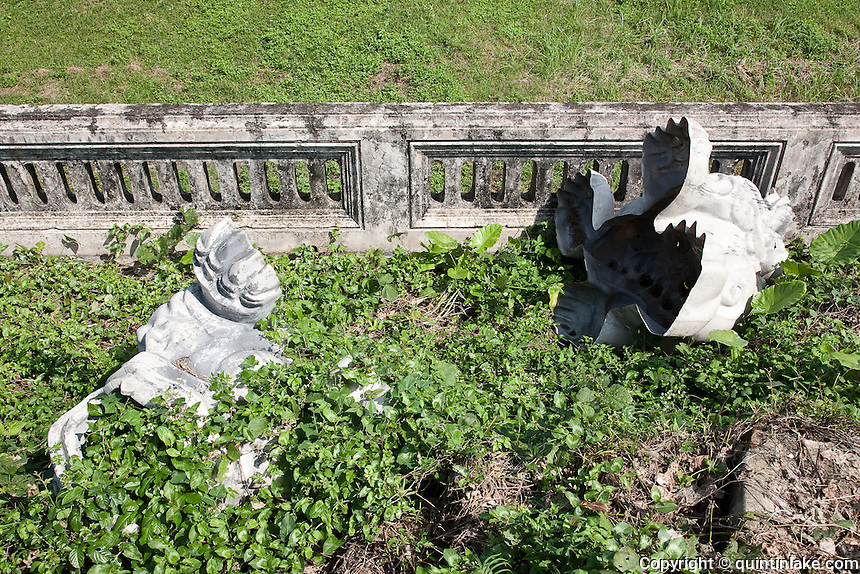 Fibre glass dragon moulds in the Forbidden Purple City, Hue Citadel / Imperial City, Hue, Vietnam