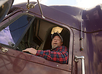 NWA Democrat-Gazette/BEN GOFF @NWABENGOFF<br /> Corey Marler poses for a photo in the cab of a truck Thursday, April, 6, 2017, after completing the commercial drivers license program at Northwest Technical Institute in Springdale.