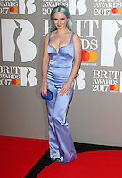 Grace Chatto at The BRIT Awards 2017 at The O2, Peninsula Square, London on February 22nd 2017<br /> CAP/ROS<br /> &copy; Steve Ross/Capital Pictures /MediaPunch ***NORTH AND SOUTH AMERICAS ONLY***