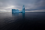 Cathedral iceberg, Baffin Bay, west of Greenland.
