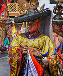 Performance by costumed monks, Likir Monastery, Ladakh, India