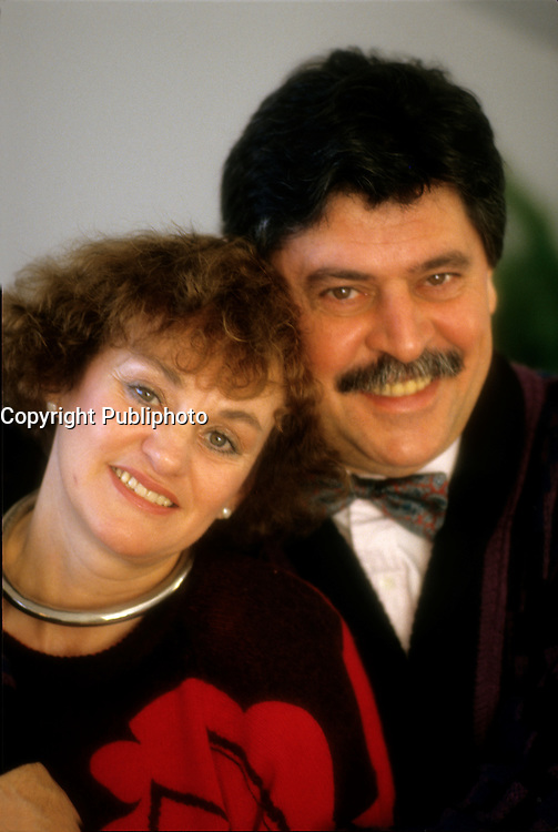 EXCLUSIVE PHOTO - Gaston L'heureux<br />  and wife<br /> <br /> <br />  circa 1987.