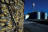 Corn silos and holding area feed for cows cattle livestock Lancaster PA