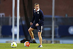 22 October 2015: Notre Dame assistant coach Dawn Siergiej. The University of North Carolina Tar Heels hosted the Notre Dame University Fighting Irish at Fetzer Field in Chapel Hill, NC in a 2015 NCAA Division I Women's Soccer game. UNC won the game 2-1.
