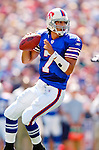11 September 2005: JP Losman, quarterback for the Buffalo Bills, passed for 170 yards and one touchdown in a game against the Houston Texans on September 11, 2005.  The Bills, wearing their 60s throwback uniforms, defeated the Texans 22-7, winning their first game of the season at Ralph Wilson Stadium in Orchard Park, NY.<br />