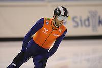 SCHAATSEN: HEERENVEEN; 18-10-2014, IJstadion Thialf, Shorttrack Invitation Cup Thialf, Daan Breeuwsma, ©foto Martin de Jong