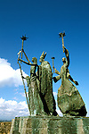 Caribbean, Puerto Rico, old San Juan, Rogativa sculpture, Photo: crudaw102  .Photo Copyright: Lee Foster, (510) 549-2202, lee@fostertravel.com, www.fostertravel.com