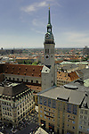 St Peters church and surrounding buildings,Munich,Bavaria, Germany.
