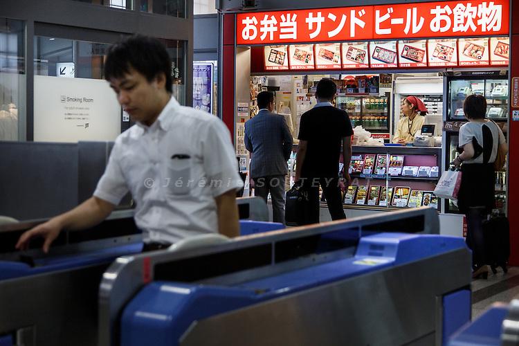 Tokyo, September 6 2013 - Ekiben shop at Shinagawa station