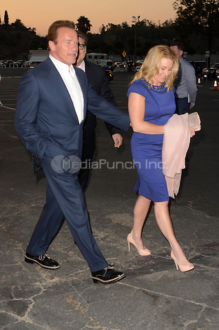 LOS ANGELES, CA - JULY 28: Arnold Schwarzenegger, Heather Milligan at the Los Angeles Dodgers Foundation Blue Diamond Gala at Dodger Stadium, in Los Angeles, California, on July 28, 2016. Credit: David Edwards/MediaPunch