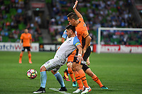 Melbourne, 3 December 2016 - BRUNO FORNAROLI (23) of Melbourne City protects the ball in the round 9 match of the A-League between Melbourne City and Brisbane Roar at AAMI Park, Melbourne, Australia. Melbourne drew with Brisbane 1-1 (Photo Sydney Low / sydlow.com)