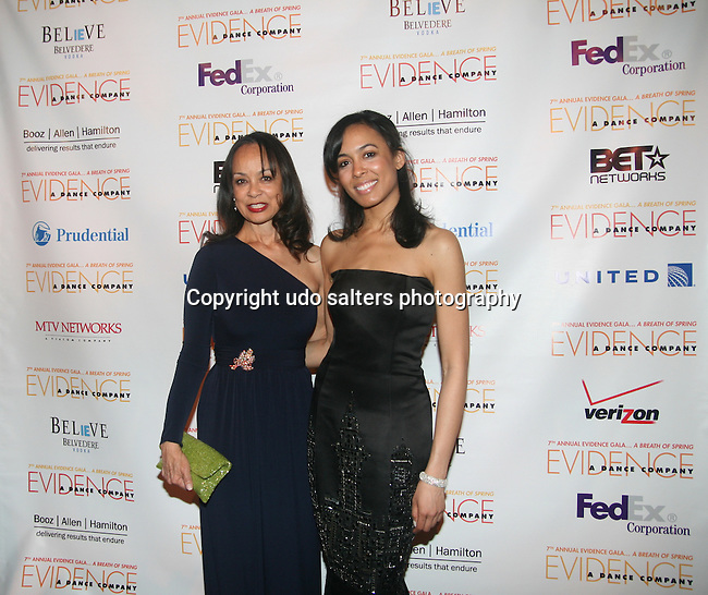 Alicia Bythewood and Brie Bythewood Attend the 7th Annual Evidence Gala...A Breath of Spring Hosted by Law & Order Actress Tamara Tunie and Jazz Vocalist Gregory Generet Held at The Grand Ballroom at Manhattan Center, NY 4/12/2011