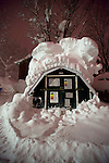 A refuge collection point is covered with snow in the Hirafu area of Niseko, Japan on Feb. 5 2010.