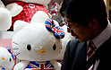 February 8th, 2012 : Tokyo, Japan &ndash; Hello Kitty gift products are displayed for The 73rd Tokyo International Gift show 2012 at Tokyo Big Sight. There are over 3 million items including gift products and everyday goods. 2500 exhibitors showcase their unique products. This exhibition is held from February 8 to 10. (Photo by Yumeto Yamazaki/AFLO).