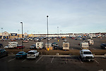 Kendrick Brinson.LUCEO..A parking lot filled with RVs parked outside of the Walmart in Williston, North Dakota. With housing shortages and hotels booked up by oil companies, people living in mobile homes and mancamps is very common. Williston is currently experiencing an influx of people relocating there for the town's third oil boom...Model Released: No.Assigning Editor: Michael Wichita.