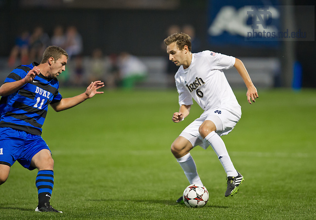 Sept. 27, 2013; Men's Soccer vs Duke, Max Lachowecki (6).<br /> <br /> Photo by Matt Cashore/University of Notre Dame