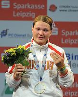 European Championships Fencing 2010 / Fecht Europameisterschaft 2010 in Leipzig - Competition Championat d'europe - im Bild: the new european champion  Svetlana Kormilitsyna (RUS) women sabre  . Foto: Norman Rembarz..Norman Rembarz , Autorennummer 41043728 , Augustenstr. 2, 04317 Leipzig, Tel.: 01794887569, Hypovereinsbank: BLZ: 86020086, KN: 357889472, St.Nr.: 231/261/06432 - Jegliche kommerzielle Nutzung ist honorar- und mehrwertsteuerpflichtig! Persönlichkeitsrechte sind zu wahren. Es wird keine Haftung übernommen bei Verletzung von Rechten Dritter. Autoren-Nennung gem. §13 UrhGes. wird verlangt. Weitergabe an Dritte nur nach  vorheriger Absprache..