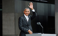 United States President Barack Obama speaks at the opening ceremony of the Smithsonian National Museum of African American History and Culture on September 24, 2016 in Washington, DC. The museum is opening thirteen years after Congress and President George W. Bush authorized its construction. <br /> Credit: Olivier Douliery / Pool via CNP / MediaPunch