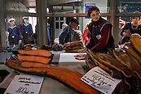 Fish market in Petropavlovsk in the main city market.
