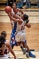 SAN ANTONIO, TX - JANUARY 8, 2014: The University of Tulsa Golden Hurricane versus the University of Texas at San Antonio Roadrunners Women's Basketball at the UTSA Convocation Center. (Photo by Jeff Huehn)
