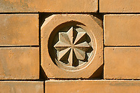architectural detail brick cornerstone