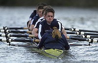 London, GREAT BRITAIN. Oxford Trail VIIIs.OXford President Matt Smith. (facing). Varsity: Boat Race  [Mandatory Credit: Peter Spurrier: Intersport Images]