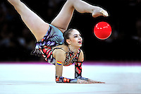 September 23, 2011; Montpellier, France;  ALEXANDRA PISCUPESCU of Romania performs with ball at 2011 World Championships.