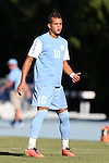 18 September 2015: North Carolina's Zach Wright. The University of North Carolina Tar Heels hosted the University of Notre Dame Fighting Irish at Fetzer Field in Chapel Hill, NC in a 2015 NCAA Division I Men's Soccer match. North Carolina won the game 4-2