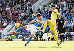 St Johnstone v Hearts&hellip;17.09.16.. McDiarmid Park  SPFL<br />Graham Cummins sjot goes over the bar<br />Picture by Graeme Hart.<br />Copyright Perthshire Picture Agency<br />Tel: 01738 623350  Mobile: 07990 594431