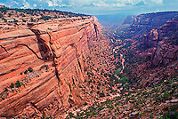 Colorado, Colorado National Monument, Grand Junction, elevated view of Canyon