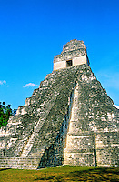 Temple I, The Great Plaza, Tikal National Park, Peten, Guatemala