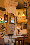 Nestled in the Tunis Medina (old city) is a café, where couples sit quietly to chat.  The Medina is a UNESCO World Heritage site
