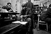 Gdansk 23 September 2008 Poland.<br /> The Gdansk Shipyard.<br /> The Polish shipyard industry is in a deep crisis. The Gdansk and Szczecin shipyards are under the threat of liquidation. The battle between the Polish government, creditors and European Union rages on. Spyard workers live under immense pressure of dissmissals. They are completely unsure of their future; they leave, search for work in England, Irland, Norway. During last two months over 25 % of workers left the Szczecin shipyard. The trade union Solidarnosc, with its cradle shipyard in Gdansk fought for free Poland 27 years ago. Today it fights for the survival of the shipyard.It organizes manifestations and pickets.<br /> In the 70's ansd 80's nearly 20 thousand people worked in the shipyard. Today only 3 thousand are left and a ghast feeling of emptiness in most of the shipyard's sectors.<br /> ( &copy; Filip Cwik / Napo Images for Newsweek Poland ).<br /> <br /> Gdansk 23 wrzesnia 2008 Polska.<br /> Polski przemysl stoczniowy pograzony jest w glebokim kryzysie. Stoczniom z Gdanska i Szczecina grozi likwidacja. Gra sie toczy pomiedzy Polskim rzadem, wierzycielami a Unia Europejska. Stoczniowcom groza zwolnienia grupowe. Nie sa pewni przyszlosci; odchodza, wyjezdzaja do Anglii, Irlandii, Norwegii. W ciagu dwoch miesiecy ze stoczni Szczecinskiej zwolnilo sie 25% pracownikow. Zwiazek zawodowy Solidarnosc, ktorej kolebka jest zaklad w Gdansku 27 lat temu walczyl o wolna Polske, dzis walczy o utrzymanie zakladu pracy. Organizuje protesty manifestacje i pikiety.<br /> ( &copy; Filip Cwik / Napo Images dla Newsweek Polska )