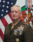 Official portrait United States Marine Corps Four-Star General James N. Mattis, who retired on May 22, 2013 after more than 41 years of service including serving as commander, U.S. Central Command, from August 11, 2010 until March 22, 2013. He replaced General David Petraeus at CENTCOM. <br /> Credit: DoD via CNP