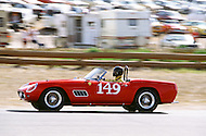 August 26th 1984, Laguna Seca Raceway, CA. 1959 Ferrari 250 GT California.