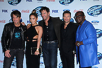 Keith Urban, Jennifer Lopez, Harry Connick Jr., Ryan Seacrest, Randy Jackson<br />