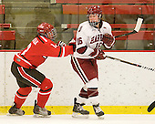 Kayla Sullivan (St. Lawrence - 13), Marissa Gedman (Harvard - 16) - The Harvard University Crimson defeated the St. Lawrence University Saints 8-3 (EN) to win their ECAC Quarterfinals on Saturday, February 26, 2011, at Bright Hockey Center in Cambridge, Massachusetts.