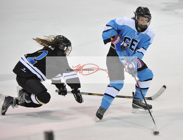 CER's Sophie Dolan speeds past a Bartlett defender Monday night.  Photo for The Star by Michael Dinneen