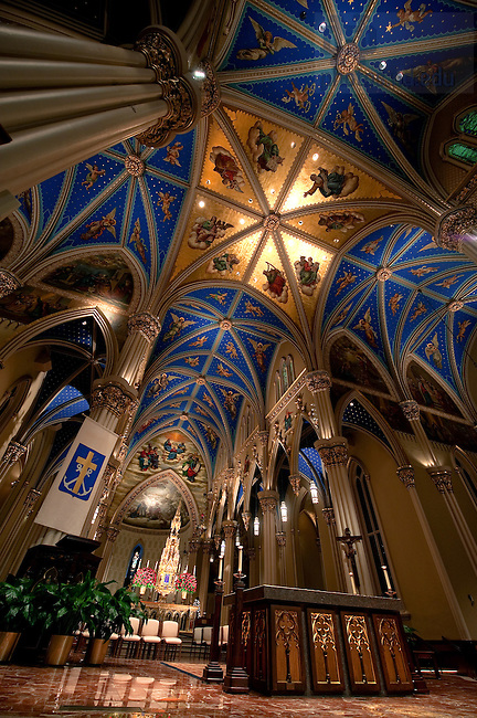Basilica of the Sacred Heart.<br /> <br /> Photo by Matt Cashore/University of Notre Dame