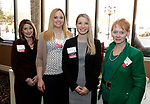 Waterbury, CT- 16 March 2017-031617CM07- Social moments from left, committee members, Michelle Smith, Glenda Robles, Atty Alexa Parr and Beverly Bucari are photographed during The Neighborhood Housing Services of Waterbury Home Matters dinner and benefit at La Bella Vista inWaterbury on Thursday.   Christopher Massa Republican-American