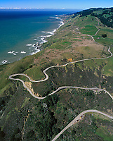 aerial photograph US Highway One Sonoma County, California