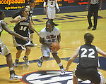"Mississippi's LaTosha Laws (23) shoots as Vanderbilt's Elan Brown (30) defends at the C.M. ""Tad"" Smith Coliseum in Oxford, Miss. on Sunday, January 2, 2011. (AP Photo/Oxford Eagle, Bruce Newman)"