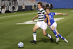 09 December 2011: UNCC's Thomas Allen (5) and Creighton's Ethan Finlay (16). The Creighton University Bluejays played the University of North Carolina Charlotte 49ers to a 0-0 tie at Regions Park in Hoover, Alabama in an NCAA Division I Men's Soccer College Cup semifinal game. UNC-Charlotte advanced to the final on penalty kicks, 4-1.