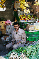 Pakistani fruit and vegetable sellers in village of Pattika, Pakistan