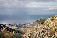 View from Gratteri,in  Madonie mountains natural park in Sicily.<br />
