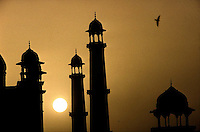 Minarets at the Taj Mahal in Agra, India - 1996
